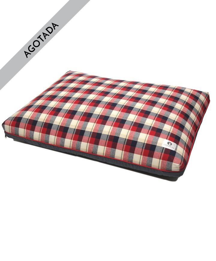 cama-perro-cuadros-rojo